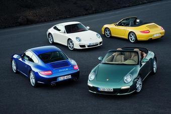 ����� ��������� Porsche 911 � ������ ����� ������ � ������ �����������, ��������� ������� � ���������� ��������.