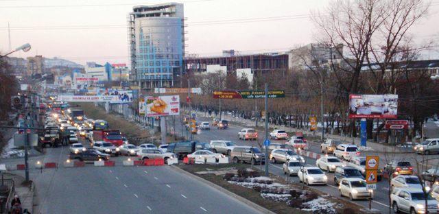 Во Владивостоке пробки:
