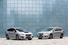 Subaru Levorg (слева) и Subaru Legacy Touring Wagon