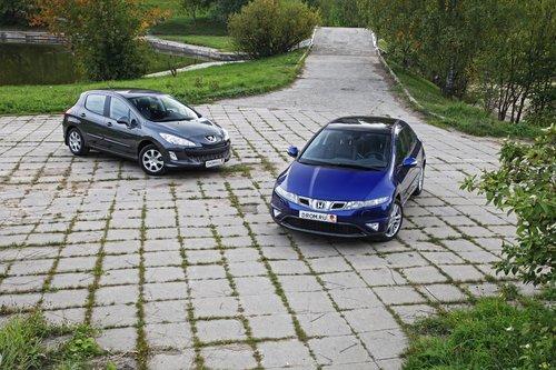 HondaCivic против Peugeot308. Плюс-минус 300тысяч рублей
