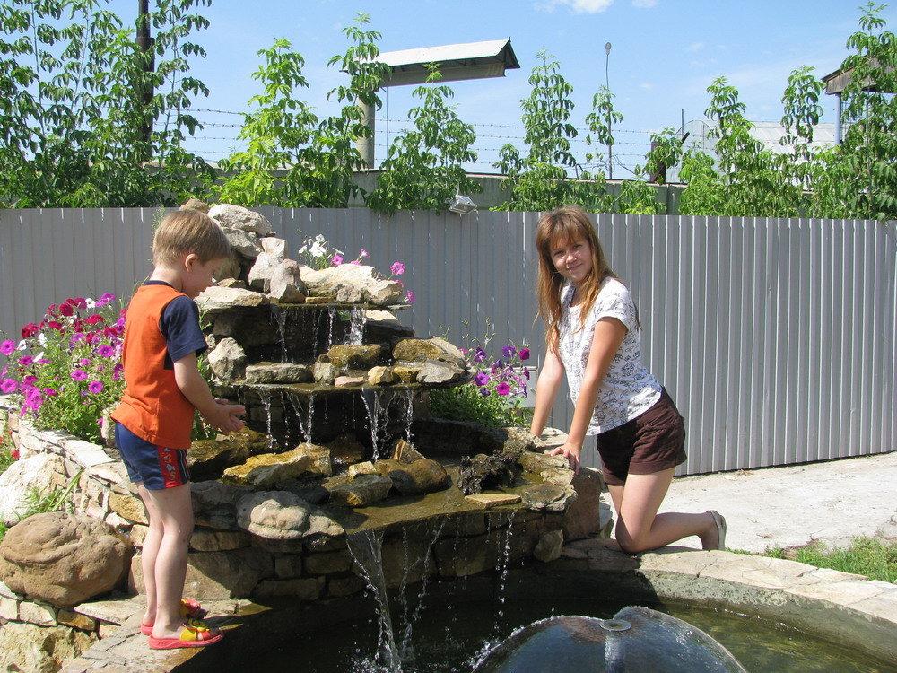 Как построить фонтанчик во дворе
