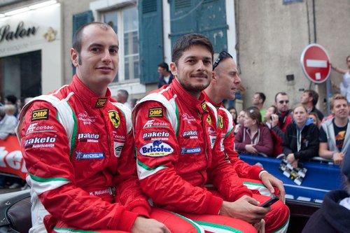 Экипаж Ferrari 458 italia команды AF Corse с бортовым номером 51: Джанмария Бруни, Джанкарло Физикелла и Маттео Малючелли