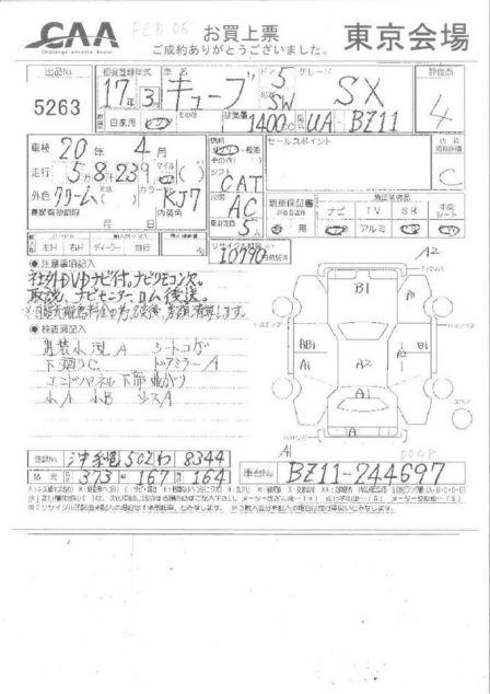 Nissan Cube 2005 - отзыв владельца