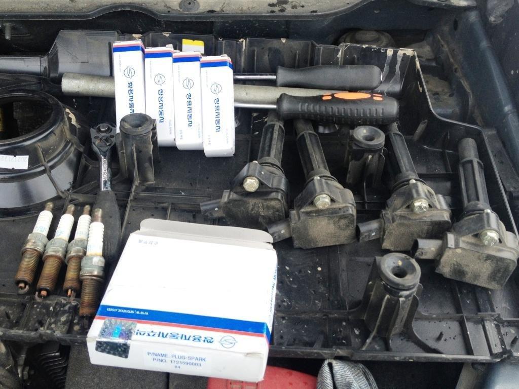 замена масла на актион нью в бензиновом двигателе инструкция