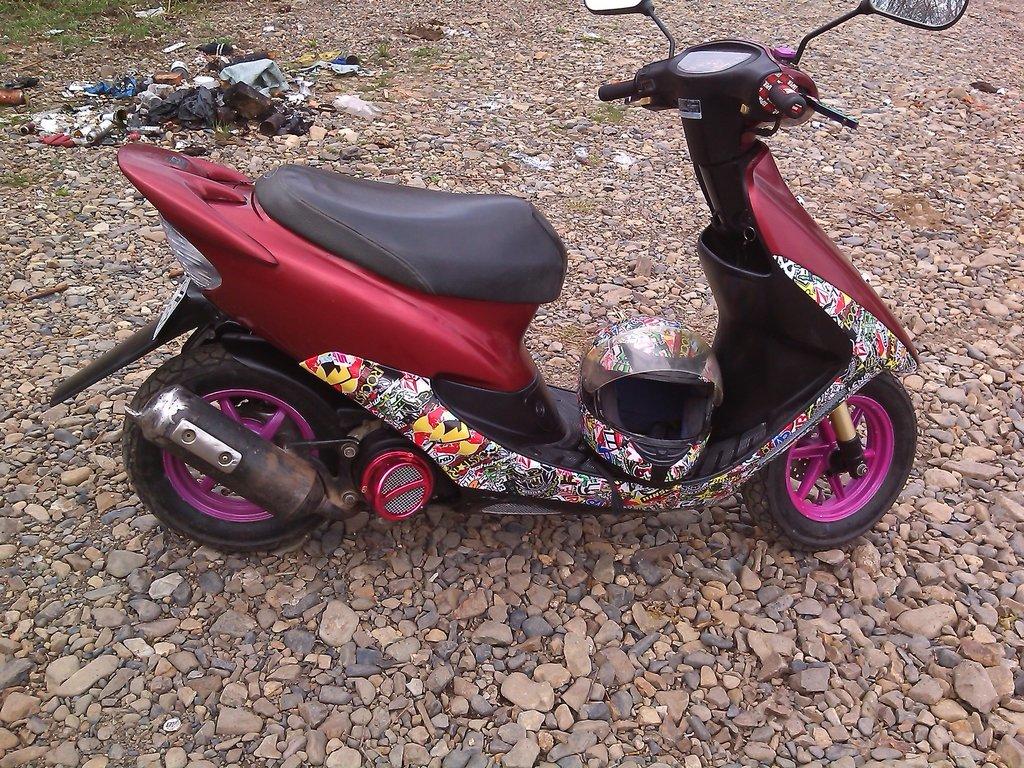 Фото покраска скутера