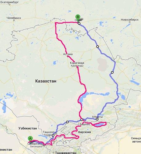 Красный маршрут прямой