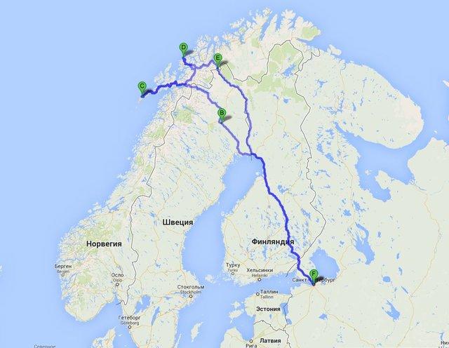 Схема маршрута: