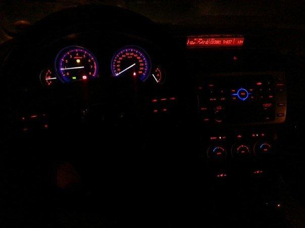 mazda 6 2004 подсветка салона