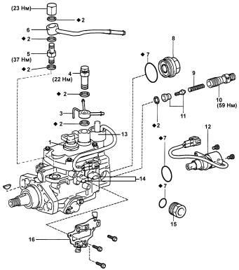 Схема тнвд для двигателей 2l-te.