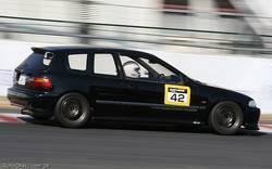Honda Civic в кузове EG6 – особого тюнинга нет, автомобиль подготовлен для повседневного использования.