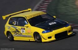 После того, как Levin обошел Hond Civic в самом начале гонки, водителю Honda приходилось довольно долго созерцать стопари Toyota. Но, он поймал момент и обошел Levin во время вхождения в поворот.