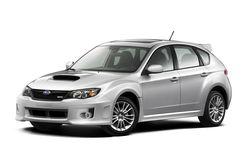 Более скромный  вариант модели — хэтчбек Subaru Impreza WRX в обновленном более широком  кузове