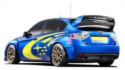 Как это выглядело  на раллийном варианте модели: Subaru Impreza WRC