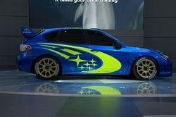 Как это выглядело  на раллийном варианте модели: Subaru Impreza WRC, вид сбоку