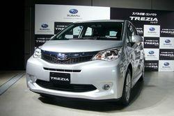 Subaru Trezia. Фото с презентации автомобиля