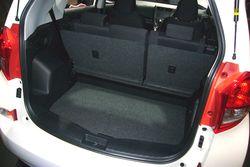 Subaru Trezia. Багажник