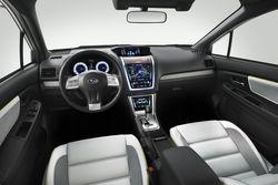 Subaru Concept XV - салон. Интерактивный интерфейс по замыслу заменит все вторичные механические элементы управления.