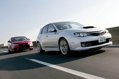 Subaru Impreza WRX STI ������ Mitsubishi Lancer Evolution X.