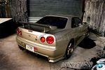 Тюнинг Nissan Skyline GT-R R34. Золотой слиток.