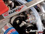 Распорка стоек фирмы Cusco в Honda S2000.