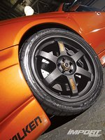 Subaru Impreza WRX, литые диски Volk