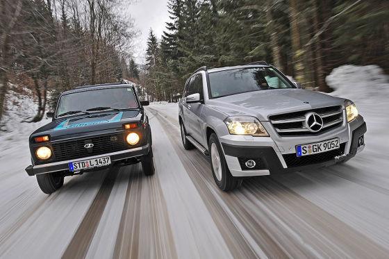 Временные контрасты: русское авто живет с 1976 года, а GLK дебютировал в 2008 году.
