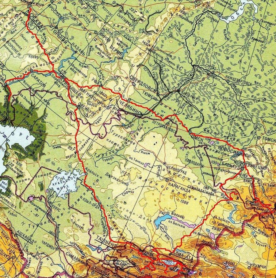 Первое направление которое приглянулось -Чуйский тракт, Горный Алтай-7700-8200км.  А это почти как до оз.