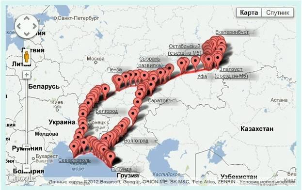 Маршрут: Екатеринбург