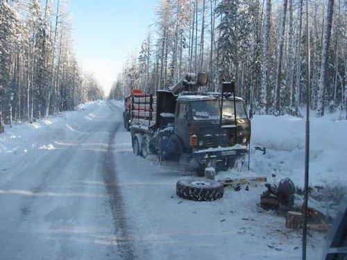 Зимники: Ремонт КАМАЗа на зимнике