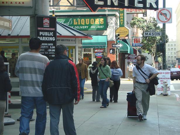 Улица в Сан-Франциско. По моим наблюдениям, Мейсон-стрит есть в каждом американском городе, как у нас – улица Ленина.