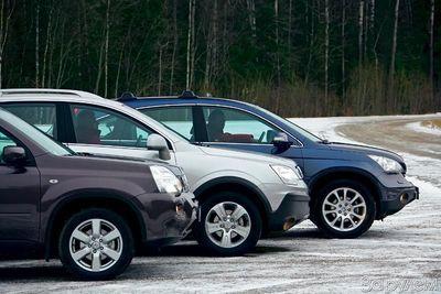 Сравнительный тест Honda CR-V, Nissan X-Trail и Opel Antara.