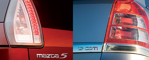 Обзор компактвэнов: Opel Zafira и Mazda5.