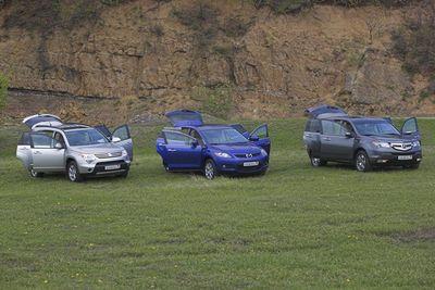Acura MDX, Mazda CX-7 и Suzuki XL7