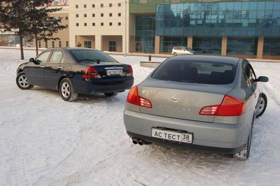 Сравнение седанов Toyota Mark II и Nissan Skyline.