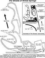 Схема трека, где производились заезды спорт-каров.
