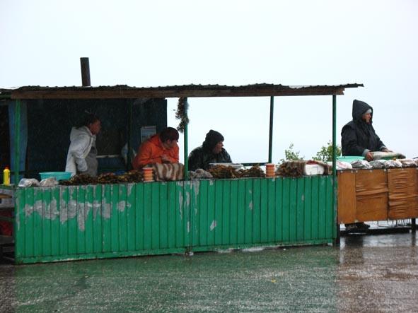 Придорожный рыбный рынок
