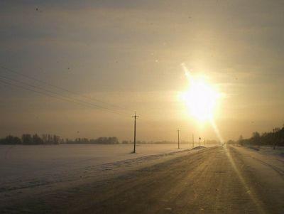 В тех же краях, но зимой. Декабрьский восход.