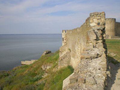 Вид на Овидиополь из крепости в Белгороде-Днестровском