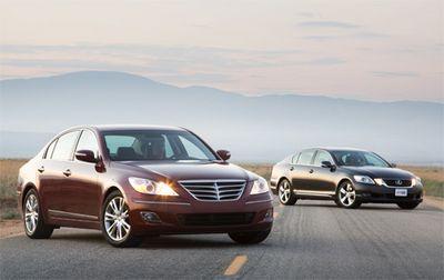 И Genesis, и GS 350 бесспорно представители класса премиум. Даже Genesis не сильно напоминает изделие концерна Hyundai.