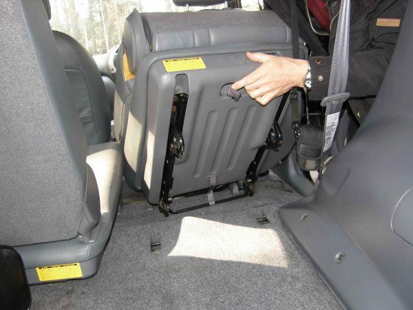 снятие заднего сиденья с toyota rav4