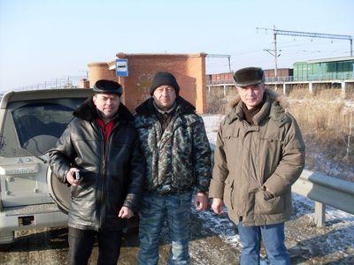 Боевые товарищи Олег, Виталя и Женя.