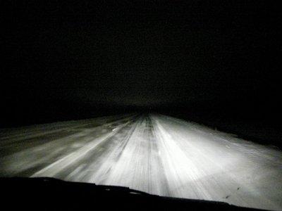 Туман на дороге.