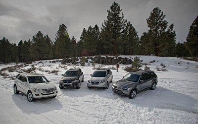 Сравнительный тест гибридного и дизельных SUV: BMW X5 xDrive 35d, Lexus RX 450h, Mercedes- Benz ML320 BlueTEC, Volkswagen Touareg TDI