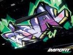 Граффити под капотом Nissan 240SX