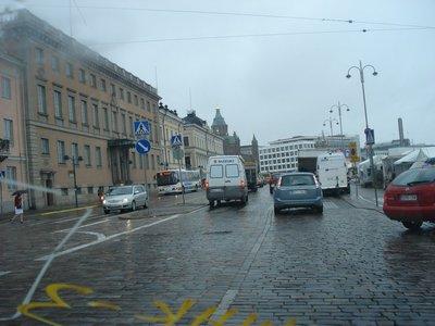 Дорога в центре.