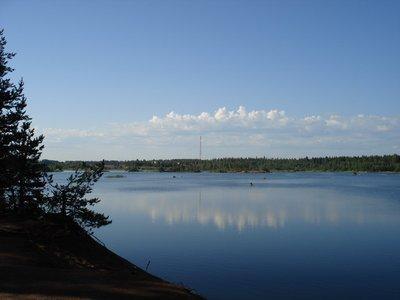 Озеро возле Питера.