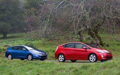 Toyota Prius и Honda Insight