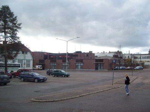 Автовокзал в деревне Финка