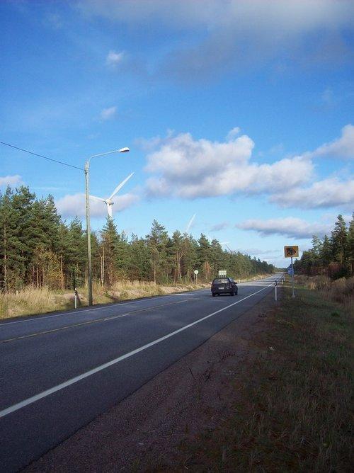 Дорога в Финке.