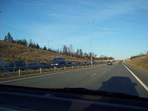 Пробка на магистрали.
